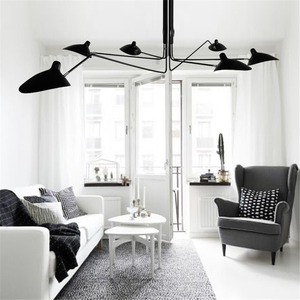 Image 1 - Nordic LOFT LED Ceiling lights Metal Living Room Ceiling lamp Dining Room Decor Lustre Hanging Lamp Fixtures Indoor decorations