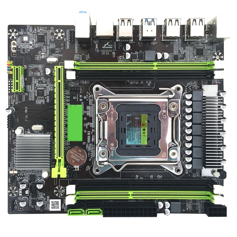 USB3.0 SATA3.0 PCI-e LGA 2011 carte mère indicateur lumière carte mère Gaming ECC ordinateur de bureau professionnel REG accessoires