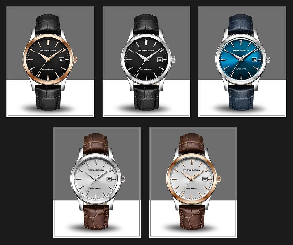 PAGANI Дизайн мужские классические механические деловые мужские часы водонепроницаемые часы мужские роскошные кожаные автоматические часы ... - 6