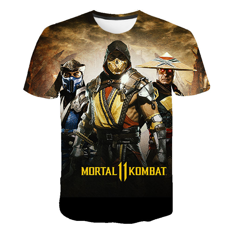 Mortal Kombat 3D T Shirt Men Women T-Shirt 2020 Fighting Game MK Streetwear Children Tee Shirt Short Sleeve Boy Girl Kids Tshirt