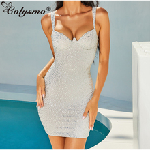 Sequin Dress Colysmo Night-Diamond Gold Corset-Style Woman Party Women Summer Glitter