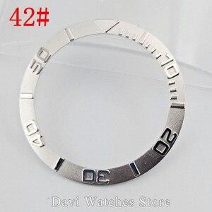 Image 2 - 38 мм черные, серебристые, золотые, керамические/титановые/нержавеющая сталь, Безель вставки для 40 мм parnis автоматические мужские часы