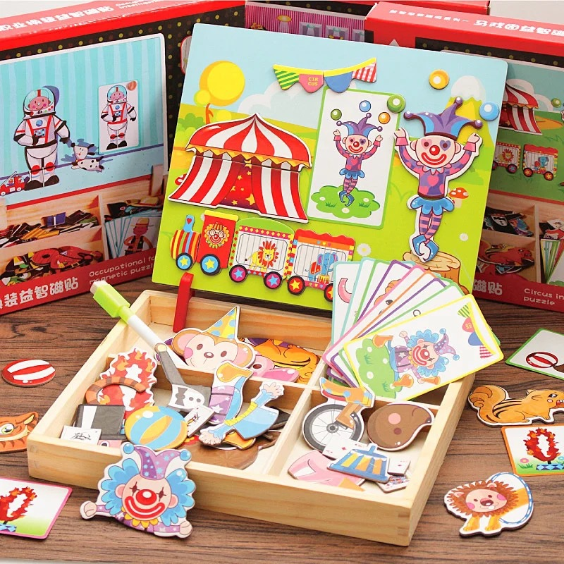 Children GIRL'S Toy Magnetic Small Drawing Board Early Childhood Educational 4-6-Year-Old Men's Jigsaw Puzzle Birthday Gift 3-7
