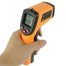 цена на Digital LCD Infrared Thermometer Gun Non-Contact IR Laser Point Thermal Infrared Imaging Temperature Handheld Pyrometer