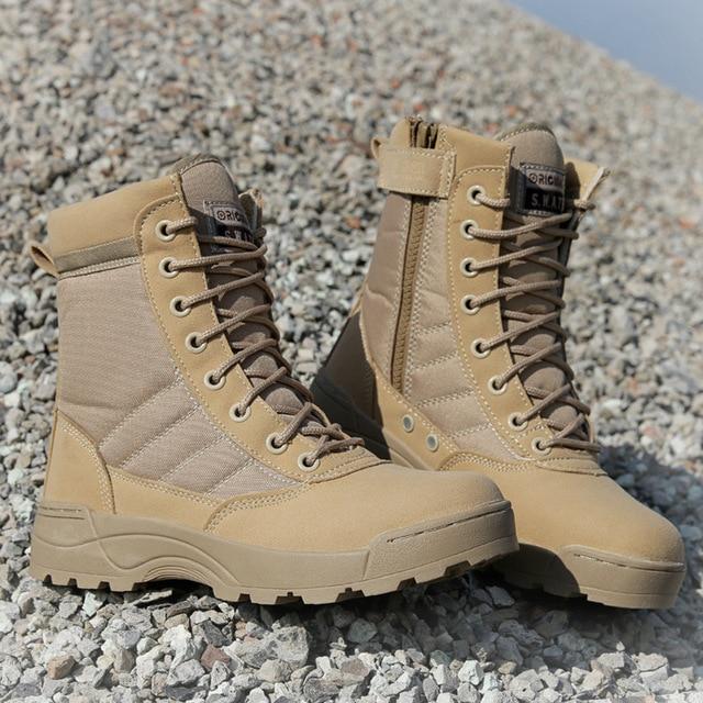Botas militares t cticas de desierto para hombre Zapatos de seguridad de trabajo botas del ej
