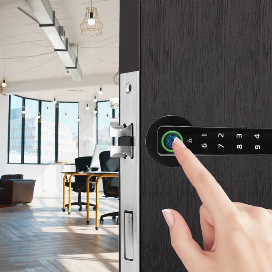 Serrure intelligente intelligente de porte de sécurité de mot de passe d'empreinte digitale pour la serrure de poignée de porte de bureau à la maison cerradura offre spéciale