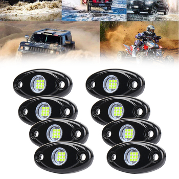 2/4/8Pods Led Rock Lights For Jeep Atv Suv Offroad Car Truck Boat Underbody Glow Trail Rig Lamp Underglow Led Neon Lights Wate image