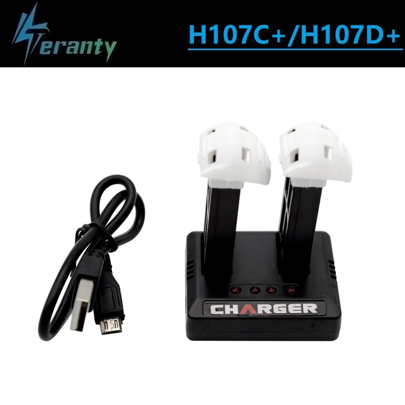 Original <font><b>Battery</b></font> + Charger for <font><b>Hubsan</b></font> X4 H107D+ <font><b>H107C</b></font>+ 3.7V 520mAh 2.0Wh Lipo <font><b>Battery</b></font> for RC Quadcopter Spare Parts Accessories image