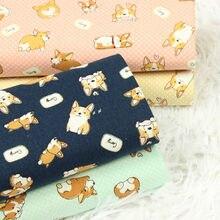 Mezza iarda addensare tessuto di cotone con cane carino stampa a mano fai da te bocca pacchetto oro borsa indumento tessuto 100% cotone CR-70