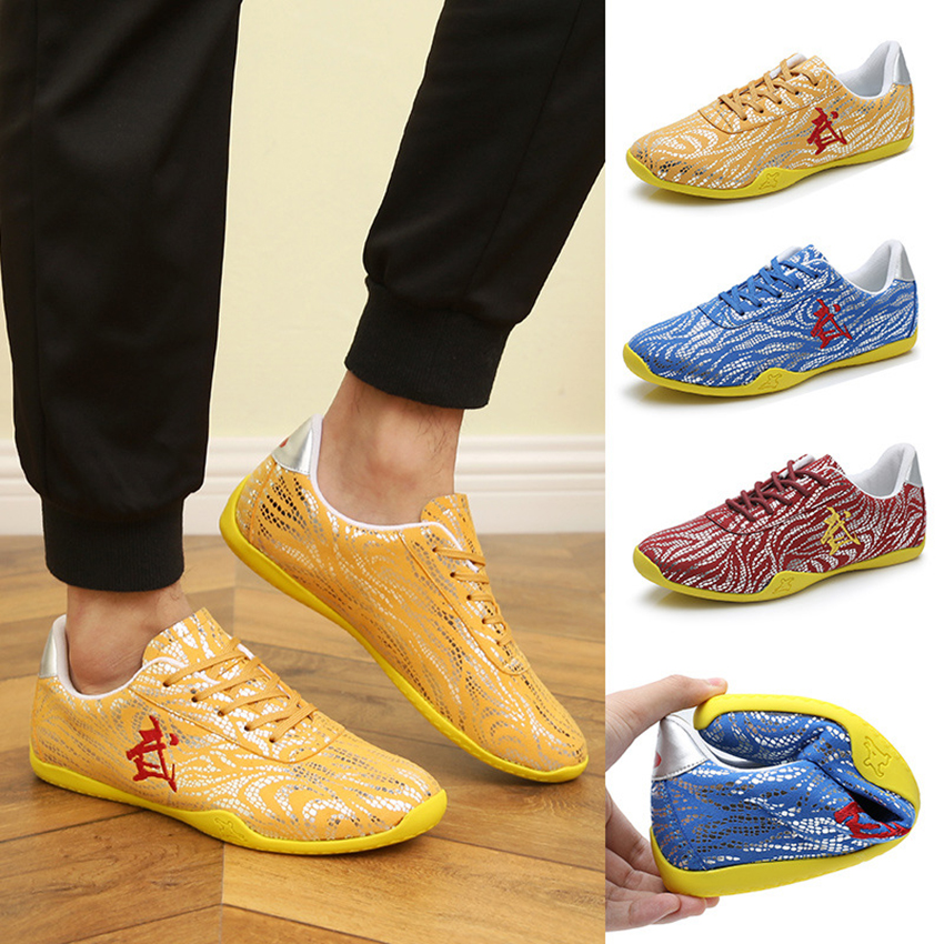 3Colors Chinese Traditional Men Kung Fu Taiji Tai Chi Shoes Taekwondo Wear-resistant Wushu Breathable Martial Arts Shoes