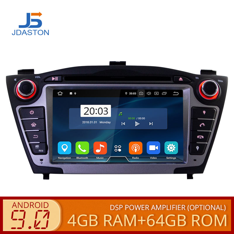 JDASTON <font><b>Android</b></font> <font><b>9.0</b></font> Auto DVD Player Für Hyundai iX35 Tucson 2009-2015 WIFI Multimedia GPS Stereo 2Din Auto Radio band recorder 64G image