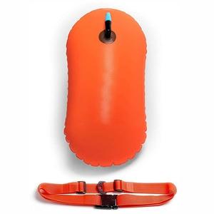 Boya de natación de agua abierta inflable, bolsa seca de flotador de seguridad ultraligera, para nadadores, triatletas, esnórquel, surfistas (naranja)