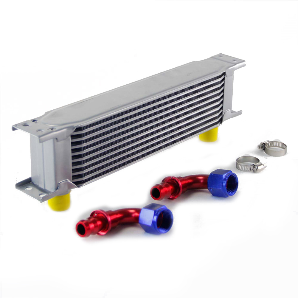 Engine Oil Cooler Connectors Transmission Silver 90 Degree Accessories