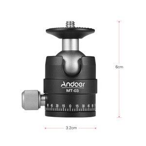 Image 4 - Andoer MT 03 Mini rotule DSLR ILDC caméra trépied montage Monopd tête à bille à dégagement rapide encoche en forme de U accessoires de photographie