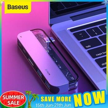 Baseus USB C HUB per Multi HDMI USB 3.0 HUB USB per MacBook Adattatore Accessori Pro Thunderbolt 3 SD Card lettore di Tipo-C USB HUB 1