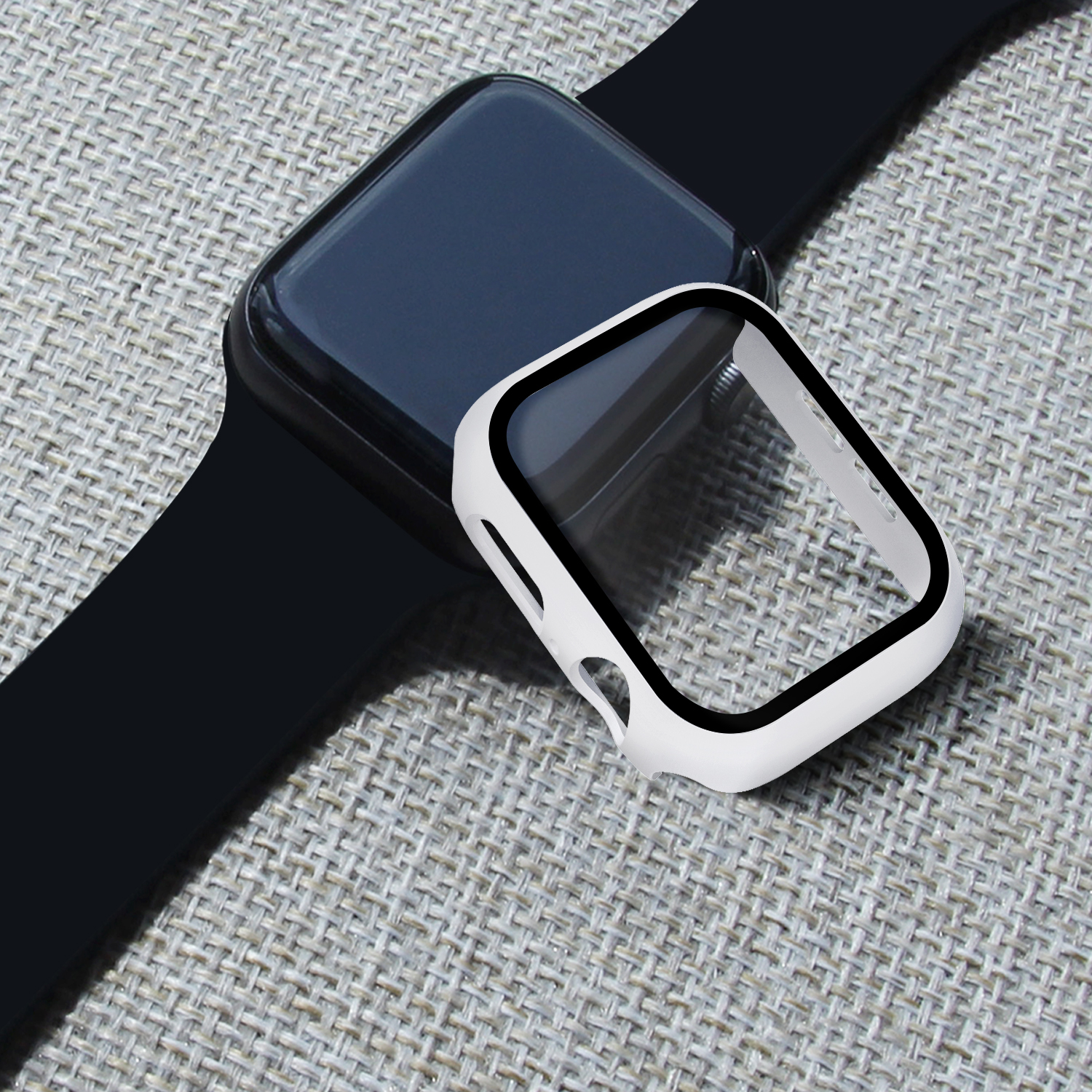 Watch Cover Case for Apple Watch 5/4 40MM/44MM PC Bumper with Glass Protector Film for iwatch Series 3/2 38 42MM  accessories 5