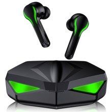 Auriculares para videojuegos, cascos TWS de baja latencia, 65ms, con Bluetooth y micrófono, auriculares inalámbricos con posicionamiento de sonido y bajos de Audio