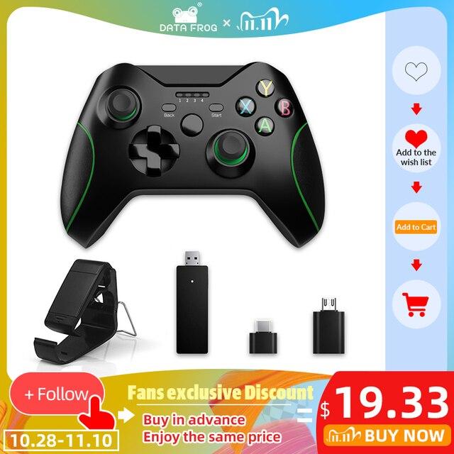 داتا الضفدع 2.4G وحدة تحكم لاسلكية ل Xbox One وحدة التحكم ل PS3 للهاتف أندرويد غمبد لعبة المقود للكمبيوتر Win7/8/10