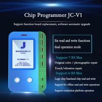Programador de chip JC-V1 Maçã Reparação Instrumento suporta 7/8/8 P/XR/XS/Max originais colorida sensível ao toque de reparação vibração