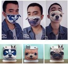 Máscara facial Unisex de algodón negro a prueba de polvo con diseño de dibujos animados de Anime oso mujeres hombres Muffle Party Masks reutilizable ciclismo polvo patrón