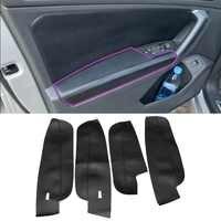 For VW Tiguan 2017 2018 2019 4pcs Microfiber Leather Interior Door Handle Armrest Panel Cover Protective Trim