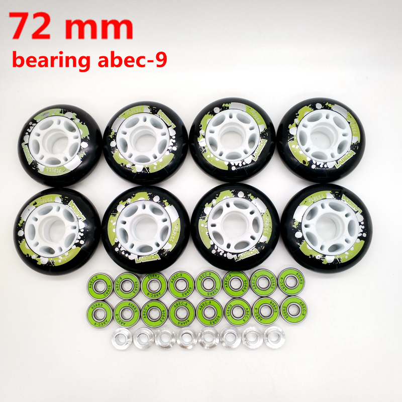 Free Shipping Roller Wheels Skate Wheel 72 Mm  PU Wheel Bearing Abec-9