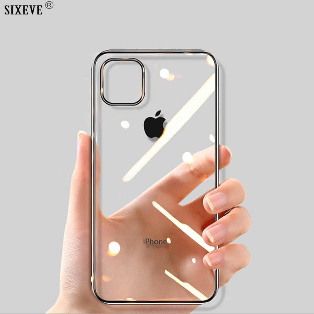 Cao Cấp Silicone Mềm Mại Ốp Lưng Trong Suốt Dành Cho iPhone 11 Pro XS Max X XR 10 5 6 6 S 5 5s 6 S 7 8 Plus 7Plus 8 Plus Di Động Lưng Điện Thoại Coque
