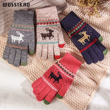 Glove Women Winter Thickening Keep Warm Lovely Student Wool Knitting Christmas Handschoenen Guantes Invierno Mujer Mittens tide leisure time hats lovely student winter keep warm knitting wool hat winter woman wool knitting hat