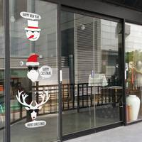 Large Christmas Sticker X mas Decal Posters Vinyl Wall Decals Decor Mural Glass Shop Window Home Decoration