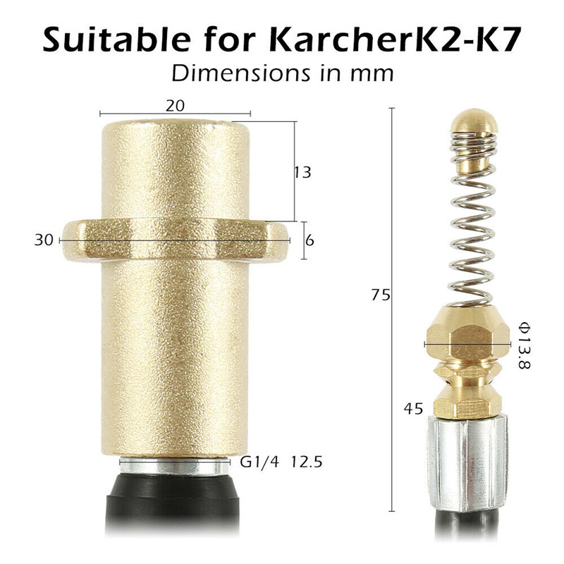THE RAT 25 Meter Karcher K4 pressure Jetting Washer Hose Drain Sewer Cleaning