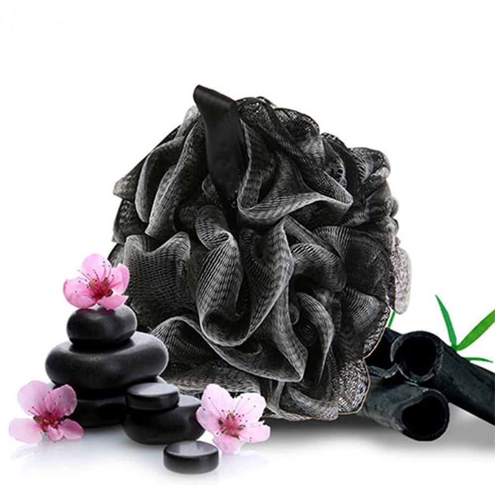 Black Bath Ball Bath Sponge Flower Soft Bamboo Charcoal Bathing Ball Dirt Exfoliation Remover Carbon Clean Towel Bathroom Item