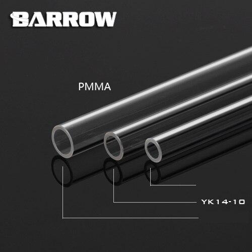 Barrow Hard Tube ID8mm/OD12mm - ID10mm/OD14mm -ID12mm/OD16mm Length 50cm Transparent Pipe Acrylic PETG Tube 2pcs/Lots PMMA/PETG