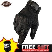 オートバイの手袋通気性guantesモト非スリップモトクロス手袋タッチスクリーンオフロード乗馬男性のための手袋4夏