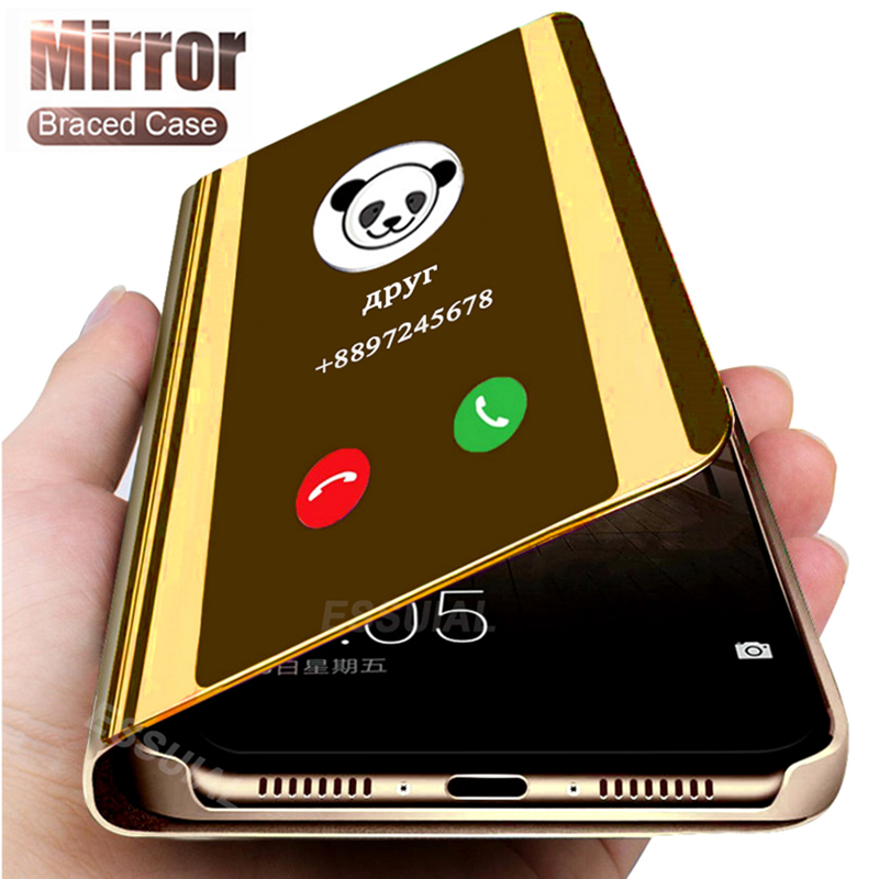 Smart Mirror Flip Case For Samsung Galaxy A51 A50 A71 A10 A20 A30 A01 A70 A40 J4 J6 A6 A8 Plus 2018 J3 J5 J7 A3 A5 A7 2017 Cover