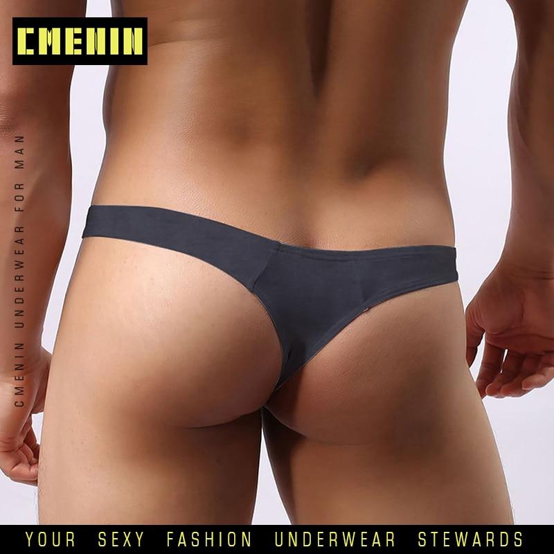 CMENIN Gay Men Underwear Jockstrap Cotton Modal Sexy Gay Men Thongs Man G String Cueca Male Panties Lingeries Man Tanga AD313