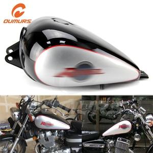 OUMURS Motorcycle Fuel Gas Tank 3.4 gallons Black Fits For Honda Rebel 250 CMX 250 CMX250 1985-2016 Free Shipping Motorbike part
