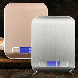 5kg 10kg Household Kitchen Scale Electronic Food Scales Diet Scales Measuring Tool Slim LCD Digital Electronic Weighing Scale(China)