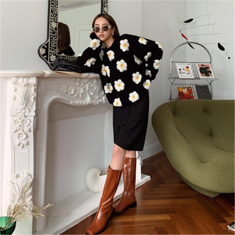 Купить свитер женский вязаный в японском стиле модный повседневный