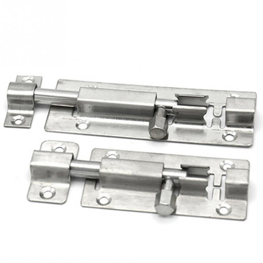 1Pc 1.5/2/3/4 Inch Silver Color Stainless Steel Door <font><b>Latch</b></font> Sliding Lock <font><b>Barrel</b></font> <font><b>Bolt</b></font> <font><b>Latch</b></font> Gate Safety Lock image
