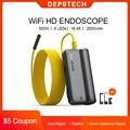 DEPSTECH обновления 5.0MP HD Беспроводной эндоскоп WiFi Borescope 16 дюймов фокусное расстояние Полужесткий Гибкая смотровая Камера для iOS