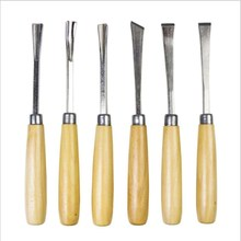 Woodworking Carving Knife Wood Tool Set White Steel Chisel Carved Root Of 6 Pieces