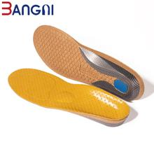 3ANGNI Leather Orthotics Insole for Flat Feet Hard Arch Support Shoe Pads Orthopedic Insoles for Men Women Feet Cushion