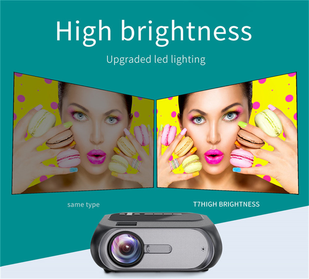 Vivicine T7 720P HD Portable Home Theater Video Game Projector,HDMI USB Movie Proyector Beamer