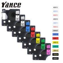 Yance – ruban Dymo D1 pour imprimante d'étiquettes, Compatible avec les modèles 45013 40913 43613 45018 40918 45016 12MM, LM160 LM280 Dymo PNP