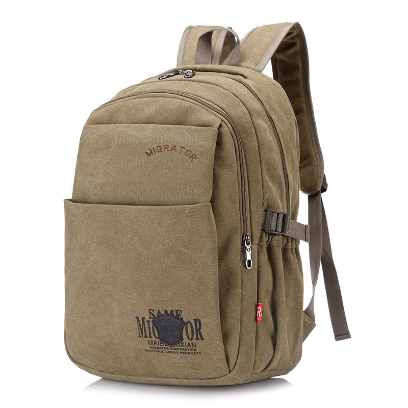 Men's Outdoor Travel  Army Bag Canvas Hiking Camping Tactical Rucksack Men Military Backpack Solid Color Tactical Bag For Male