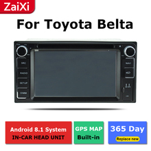 ZaiXi 2Din For Toyota Belta Limo Vois Yaris 2005~2013 Car Android Radio Multimedia Player GPS Navigation IPS Screen HiFi WiFi