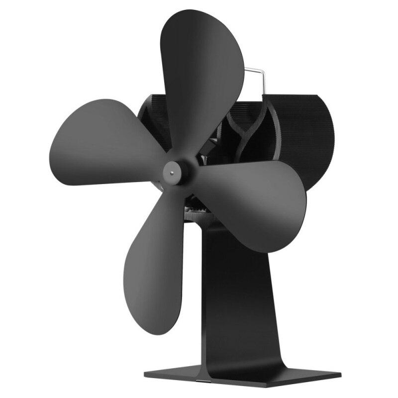 Энергосберегающий тепловое питание вентилятор для камина ручка 4 лопасти бесшумная работа экологичный вентилятор для плиты
