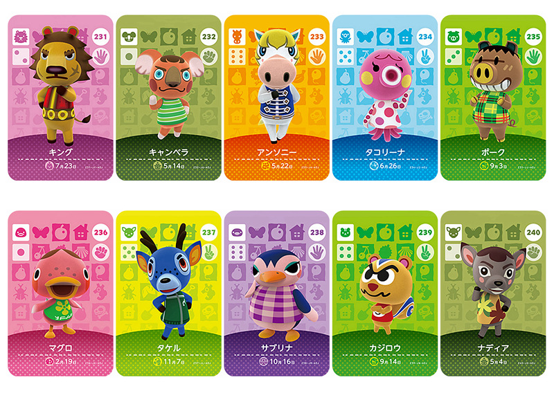 New Amiibo Card NS Game Series 3 (201 to 240) Animal Crossing Card Work for image
