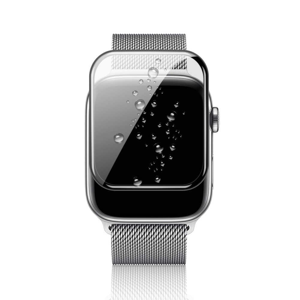 ישים כדי Apple שעון עמיד למים רך זכוכית סרט סדרת 5 4 38MM 40MM 42MM 44MM מזג iwatch 3 2 1 שעון מסך מגן