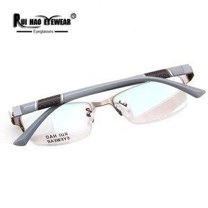 Image 5 - Prescription Eyeglasses Men Glasses Frame Rectangle Design Optical Glasses Myopia Progressive Resin Lenses Spectacles 961